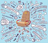Braun Büro Sessel — Stockvektor