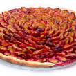 Tasty plum tart after baking — Stock Photo #53409531