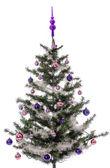 Christmas tree decorated — Stock Photo