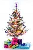 Christmas tree illuminated — Stock Photo