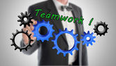 Teamwork and contribution concept — Stock Photo