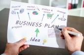 Podnikatelský plán — Stock fotografie