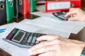 Accountant at work — Stock Photo