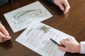 Real estate contract — Stock Photo