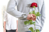 Surprise for Valentine's day — Stock Photo