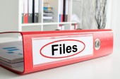Files wording on a binder — Stock Photo