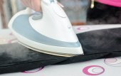 Ironing of trousers — Stock Photo