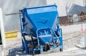 Concrete bucket for tower cranes — Stock Photo