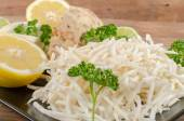 Tasty grated celery on a plate — Stock Photo
