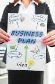 Businesswoman showing business plan concept — Stock Photo