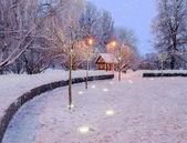 Vinter kväll — Stockfoto