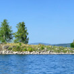 Gull Island on Lake Turgoyak, Southern Urals — Stock Photo #58430611