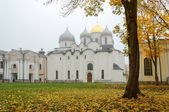 Saint Sophia Cathedral in the autumn mist — Stock Photo