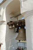 Bells in the span of the belfry of St. Sophia Cathedral — Stock Photo