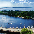 View of the Bay of Vyborg from the tower of the castle — Stock Photo #59221591