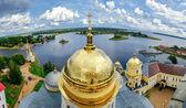 Nilo-Stolobensky Monastery from height — Stok fotoğraf