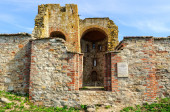 Ruined Church of the Annunciation at the Rurik settlement — Stock Photo