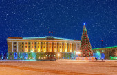 St. Sofia's Square in Veliky Novgorod — Stock Photo