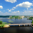 View of the Bay of Vyborg from the tower of the castle — Stock Photo #65297435