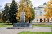 Monument to partisan Lenja Golikov — Stock Photo
