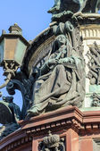 """Allegorical sculpture """"Faith"""" on the monument to Emperor Nicholas I — Stock Photo"""