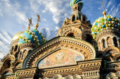 Fragment of cathedral of Our Saviour on Spilled Blood, St. Petersburg — Stock Photo