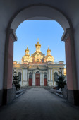 Holy Cross Cossack Cathedral in St. Petersburg — Stock Photo