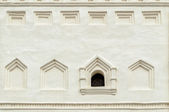 Ancient window in the belfry of Saint Sophia's cathedral in Veliky Novgorod, Russia — Stock Photo