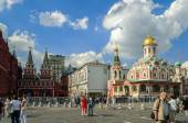 Architectural ensemble of the Red Square in Moscow, Russia — Stock Photo