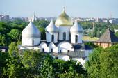St. Sophia Kathedrale aus der Vogelperspektive, Weliki Nowgorod — Stockfoto