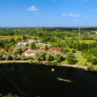 View of the  Vyborg territory from the tower of the Vyborg castle — Stock Photo #76279745
