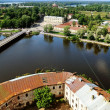 View of the  Vyborg territory from the tower of the Vyborg castle — Stock Photo #76279755