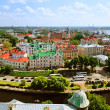 Vyborg. View of the Old City from the observation deck of the Vyborg Castle — Stock Photo #76279757