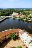 View of the  Vyborg territory from the tower of the Vyborg castle — Stock Photo
