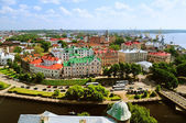 Vyborg. View of the Old City from the observation deck of the Vyborg Castle — Stock Photo