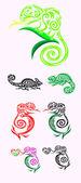 Chameleon decoration — ストックベクタ