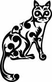 Cat ornate decoration — Stock Vector