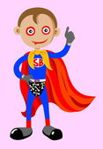 Superboy with thumbs up — Stock Vector