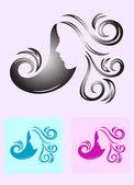 Beauty hair woman — Stockvektor
