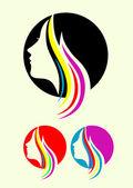 Beauty hair icon — Cтоковый вектор