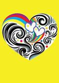 Heart love ornament — Stockvector