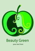 Beauty Green — Vector de stock