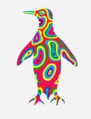 Penguin abstract colorfully — Vetor de Stock