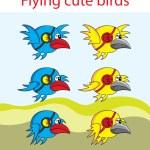 Flying bird animation — Stock Vector #67446541