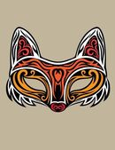 Fox Mask — Stock Vector