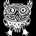 Owl tribal — Stock Vector #74480795