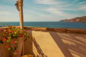 Balcone con vista mare — Foto Stock