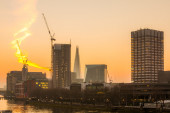 London Skylines at dusk England, UK — Stock Photo