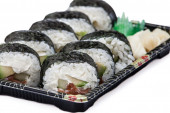 Sushi on plate — Stock Photo