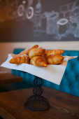Croissant bread on buffet line — Stock Photo